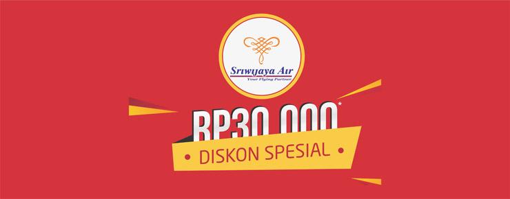 Diskon Promo Sriwijaya Air Rp30.000