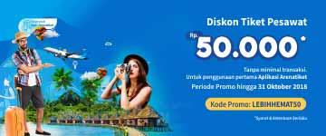 Diskon 50 Ribu Tanpa Minimal Transaksi Untuk Pengguna Baru