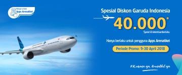 Diskon Penerbangan Garuda Indonesia 40 Ribu