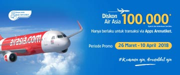 Diskon Spesial Air Asia 100 Ribu