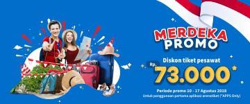 Merdeka Promo Diskon Tiket Pesawat Rp73 Ribu