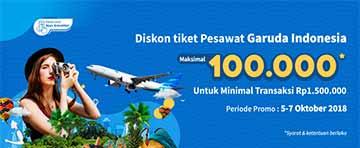 Diskon Spesial Tiket Pesawat Garuda Maksimal 100K
