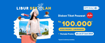 Diskon tiket pesawat AirAsia Rp100ribu