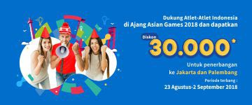 Dukung Atlet Indonesia Dapatkan Diskon Tiket Rp30 Ribu