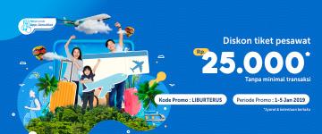 Liburan Hemat Diskon Tiket Pesawat 25 Ribu Tanpa Minimal Transaksi