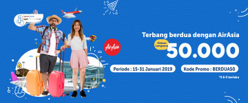 Terbang Berdua Pakai Air Asia Diskon 50 Ribu