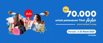 Terbang Berdua Pakai AirAsia Diskon Maksimal Rp70 Ribu